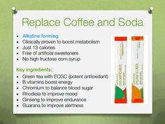 Replace coffee and soda with Arbonne fizz sticks. They are a must have!!! Costs about as much as a soda & much healthier than the energy drinks out there! I am addicted to these! www.laurawagenschutz.arbonne.com