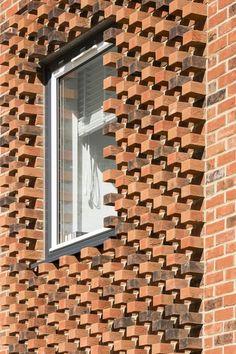 Horsted Park Brick Design, Facade Design, Exterior Design, House Design, Brick Masonry, Brick Facade, Brick Architecture, Architecture Details, Brick Art