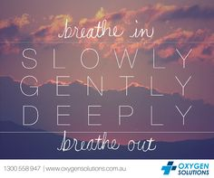 Breathe In. Breathe Out. Get a little assistance with Oxygen Solutions. Contact us on 1300 558 947.Happy Friday!http://oxygensolutions.com.au/