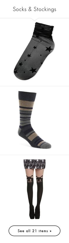 """Socks & Stockings"" by divinatas ❤ liked on Polyvore featuring intimates, hosiery, socks, black, steve madden, slouch socks, reinforced toe socks, see through socks, slouchy socks and men's fashion"