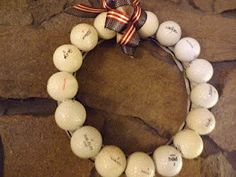 Golf Ball Wreath Fathers Day Gift by DickeysDecor on Etsy, $27.00