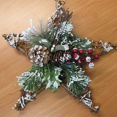 Rustic star for hubby's tree...