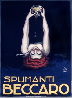 Achille Mauzan vintage advertisement  - Spumanti Beccaro