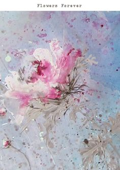painted flowers:
