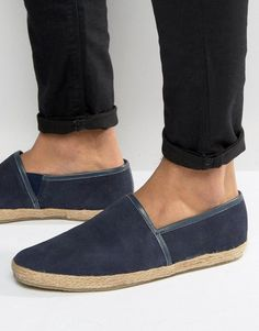 KG By Kurt Geiger Loafers In Blue Suede - Blue