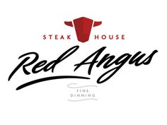 I really like this logo. The contrast from the red to the black makes it pop and the alignment creates the visual flow. Franchise Restaurants, Cow Logo, Restaurant Logos, Examples Of Logos, Branding, Logo Design, Graphic Design, Logo Ideas, Shop Ideas