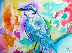 Aquarela #22 Speed Painting Pássaro