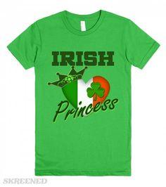 St. Patrick's Day Irish Princess t-shirts