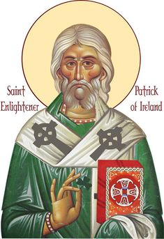Patron saint (St Patrick) Brought Christianity to Ireland and was responsible in part for the Christianization of the Picts and Anglo-Saxons. Irish Catholic, Catholic Saints, Patron Saints, Legends And Myths, Religious Images, Religious Icons, Irish American, Russian Orthodox, Orthodox Christianity