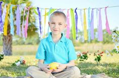 Easter pictures rebekah white photography...like the garland