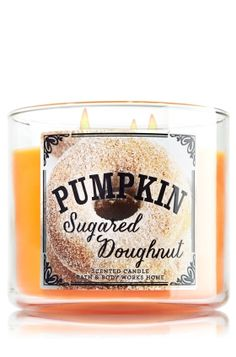 Pumpkin Sugared Doughnut 3-Wick Candle - Slatkin & Co. - Bath & Body Works....i cant wait!