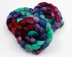 BFL Wool - Hand Painted Roving for Felting or Spinning