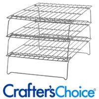 Come up with something similar for stacking bars of soap while curing.  Stackable Racks - Wholesale Supplies Plus
