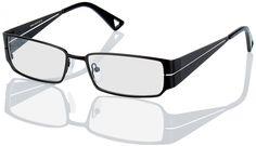Vollrandbrille Caseros Kantige Brille mit großen, rechteckigen Gläsern für Damen und Herren. Material: Vollrandbrille. Fassung: Metall, Nasenpads, Bügelenden: Kunststoff. Eigenschaften: Markante Brille mit sportlichem Schick. Stil: Die schicke, kantige Form der Brille fällt auf. Sehr schön auch die durch einen schmalen Streifen durchbrochenen Bügel.