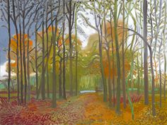 Official Works by David Hockney including exhibitions, resources and contact information. David Hockney Landscapes, David Hockney Paintings, Landscape Drawings, Landscape Art, Landscape Paintings, Pop Art Movement, Painting Wallpaper, Artist Sketchbook, Art Images