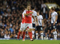 Flamini scored both goals in today's match against the Spurs!!