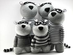 Raccoon Sock Animals. https://www.etsy.com/shop/sockart http://rhythmsofgrace.ca/thelab/