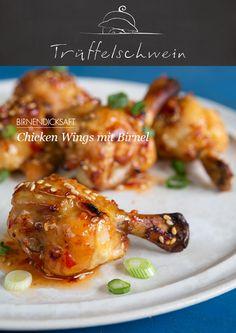 Chicken Wings mit Birnel