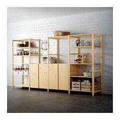 IKEA - IVAR, 4 section shelving unit, Untreated solid pine is a durable natural material that can be painted, oiled or stained according to preference.You can move shelves and adapt spacing to suit your needs.You can personalize the furniture even more by staining or painting it your favorite color.