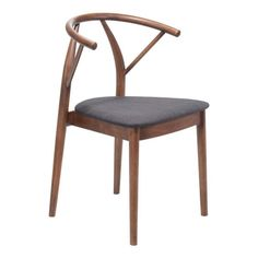 Mid-Century Modern meets Scandinavian simplicity as the Communion dining chair features an elegant all wood design, in a rich walnut finish to legs and rounded back and is accented with slim yet comfortable seat in poly-linen upholstery.