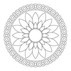 Mandala Coloring, Simple Flower Mandala Coloring Pages: Simple Flower Mandala Coloring PagesFull Size Image