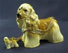 American Cocker Spaniel Dog Jeweled Trinket Box - Treasure Journeys