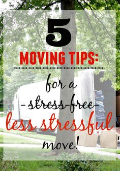 Five tips for making a move less stressful courtesy of Carmel at Our Fifth House