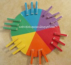 We Love Being Moms!: Rainbow Pinwheel Game with Tutorial