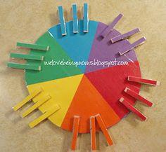 We Love Being Moms!: Rainbow Pinwheel Game with Tutorial