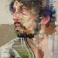 London-based painter Andrew Salgado creates expressive portraits that convey raw emotion and deep sadness. Salgado explores color and form. Art Inspo, Inspiration Art, Oil Portrait, Abstract Portrait, Painting Portraits, Illustration Art, Illustrations, Abstract Painters, Figure Painting