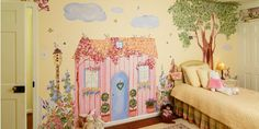 Beautiful hand-painted garden, bunny rabbit and flower mural decals for the little girl you love.  Turn your daughters room into a magical garden in minutes!  Design her room reflect her imagination and help it grow!  Check out more custom room theme decals here: www.muralistick.com