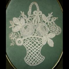 Antique French Lace Baskets