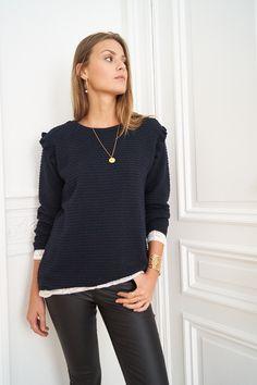 Pull Come - www.lescomptoirsdorta.com #pull #coton #pullbleu #bluesweat #lescomptoirsdorta #fashion #ootd #outfit