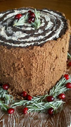 Turn this traditional dessert on it's side and you come up with a remixed classic! Garnished with sugared rosemary, fresh cranberries a...
