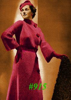 Vintage 1935  Military Flare Coat Blouse by MissJuliasPatterns
