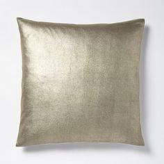 Solid Metallic Pillow Cover - Mocha Gold | West Elm
