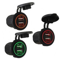 Car Dual USB Power Charger Adapter Socket Waterproof 5V 2.1A 1A. Car Dual Usb Power Charger Adapter Socket Waterproof 5v 2.1a 1a    feature:  usb Outlet 5v Up To 2.1a.  short Circuit / Overheat Protection.  waterproof Protective Caps And Usb Cover.  multifunctional Product With Blue Led Indicator Light, Perfect For Travel Use.  waterproof Dustproof Material Can Be Used For The Interior And Exterior Application.  can Be Installed Vertically, Horizontally Or Underneath The Dash, Or Any Flat…