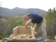How To Build An Outdoor Fireplace Pinteres