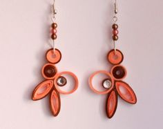 Paper Quilled Earrings by ElysianMeraki on Etsy