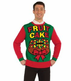 Shop Our Huge Selection Of Funny Christmas Sweaters Like The Festive Fruitcake Tacky Christmas Sweater This Mens Christmas Sweater And Other Christmas
