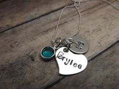 Hand stamped jewelrypersonalized by mybeadedbutterfly on Etsy, $33.00