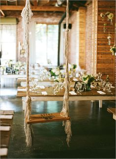 A swing at an indoor wedding reception…I've seen it all! Maybe set up a swing for Savara's bday. Wedding Swing, Rooftop Wedding, Dream Wedding, Wedding Beauty, Garden Wedding, Indoor Wedding Receptions, Wedding Reception Decorations, Wedding Bells, Reception Ideas