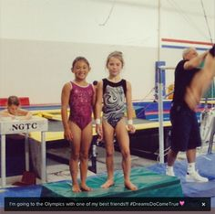 Tiny Kyla Ross and Mckayla Maroney when they trained together at Gym Max:). I SERIOUSLY CANNOT DEAL WITH THIS. AT ALL.