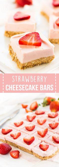 Strawberry Cheesecake Bars! :-)