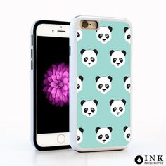 """iPhone 6 / 6s Panda Bear Cell Phone Case, Apple 4.7"""" Protective Animal Blue Cover"""