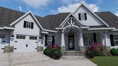Crystal Pines House Plan - Front View Close - Archival Designs