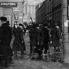 Red guard patrol in Helsinki