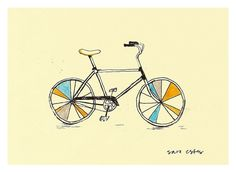 5x7 Magic Bicycle Print from thespottedfox etsy shop
