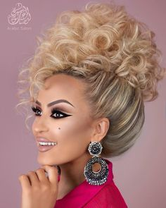 Top collection for girls 1940s Hairstyles, Elegant Hairstyles, Bride Hairstyles, Bridal Hair And Makeup, Hair Makeup, Cool Haircuts For Girls, Curly Hair Styles, Natural Hair Styles, Glamour Hair