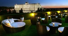 Rooftop Terrace with the best views of the Royal Palace at ApartoSuites Jardines…